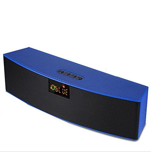 Bluetooth-Lautsprecher Wireless Subwoofer Outdoor LED Lautsprecher Karte Computer Lautsprecher 5w + 5w Lautsprecher 2000 MAh Akku Perfect Sound, Blue