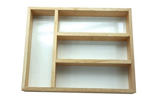 Apollo 5909 Housewares Wood Cutlery Tray, 32 x 24 cm, Natural Wood
