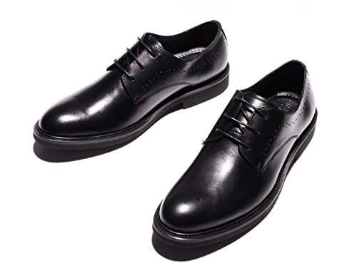 Hommes Rétro Derby Chaussures Automne Hiver Porter Comfort Ballroom Oxford Chaussures Chaussures En Cuir Ronds Black