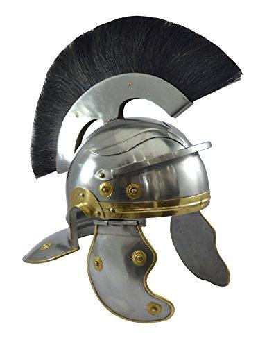 Roman Centurion Helm mit Schwarz Plume Antik Replica römischen ()