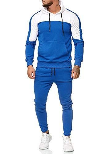 OneRedox Herren Jogginganzug Sportanzug Modell 1238 Blau XL