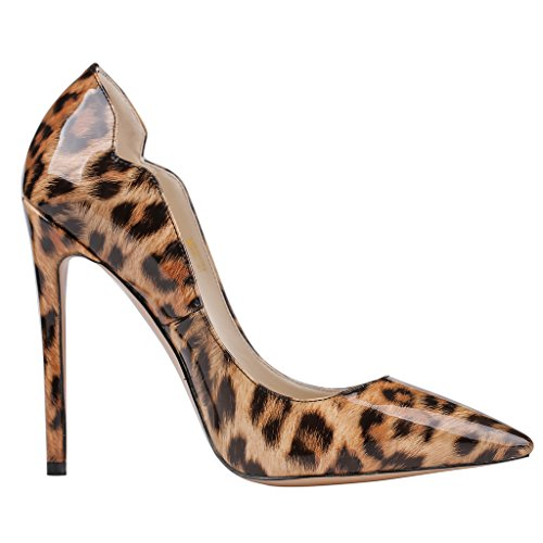 EKS , Escarpins femme - Leopard-Lackleder