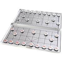 Quantum Abacus Azerus Alu Line: Xianqi - in Aluminium-Box, Reiseset mit magnetische Spielsteinen, Spielbrett 18cm x 16cm x 0,5cm (XY024P DE)