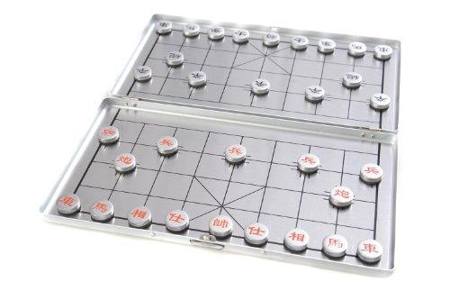 Azerus Alu Line: Xianqi - in Aluminium-Box, Reiseset mit magnetischen Spielsteinen, Spielbrett 18cm x 16cm x 0,5cm (XY024P DE)