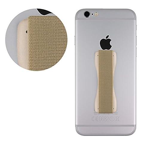 MyGadget Fingerhalterung optimalen Einhandbedienung Fingerhalter Griff Smartphone Handy u.a. iPhone 7, 6, Plus, Samsung Galaxy S6, S7, Edge in Gold