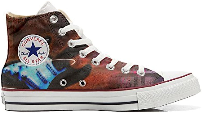 Shoes Custom Converse All Star  personalisierte Schuhe (Handwerk Produkt) Gitarren