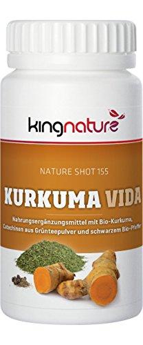 Kingnature Kurkuma Vida - Kurkuma, schwarzer Pfeffer mit Grüntee-Extrakt