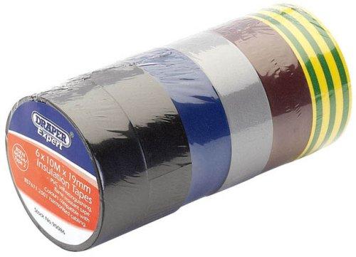 draper-90086-lote-de-rollos-de-cinta-aislante-10-m-x-19-mm-6-unidades-varios-colores