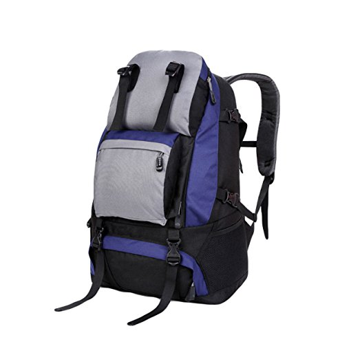 Im Freienbergsteigen Rucksack Outdoor-Sport-Taschen Reiseschultertasche Wanderrucksack,Khaki Blue