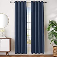 "AmazonBasics Room - Darkening Blackout Curtain Set with Grommets - 52"" x 96&q"