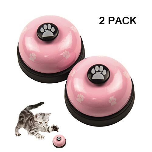 RoyalCare 2 Stück Trainingsglocken für Haustiere, Hund Türklingel für Puppy Toilet Töpfchen Trainings und Kommunikationsgerät (Pink)