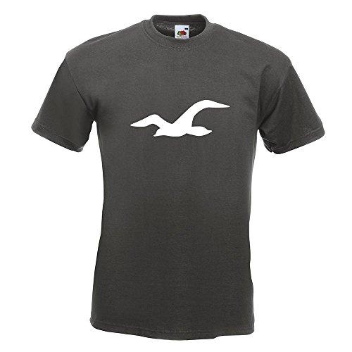 KIWISTAR - Möwe T-Shirt in 15 verschiedenen Farben - Herren Funshirt bedruckt Design Sprüche Spruch Motive Oberteil Baumwolle Print Größe S M L XL XXL Graphit