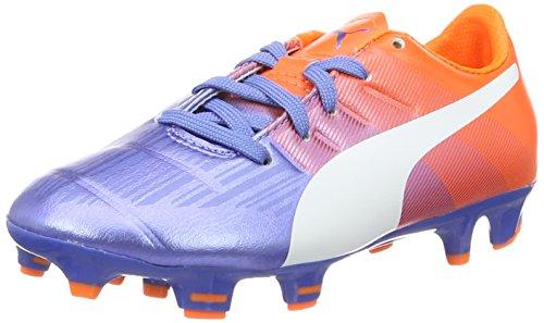 Puma Evopower 3.3 Fg Jr Unisex-Kinder Fußballschuhe Mehrfarbig (Blue Yonder-puma White-SHOCKING Orange 03)