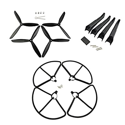 Hubsan Original H501S RC Quadcopter Drone Propellers Protection Cover & Landing Gear Set