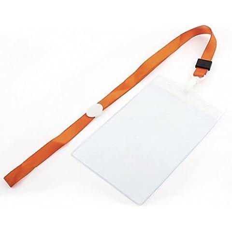 Vertical plástico correa de cuello nombre foto posición ID titular de la tarjeta de Orange