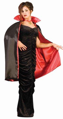 Forum Novelties Halloween Kostüm Umhang Cape Vampir Stehkragen 114cm