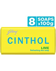 Cinthol Lime Bath Soap, 100g (Pack of 8)
