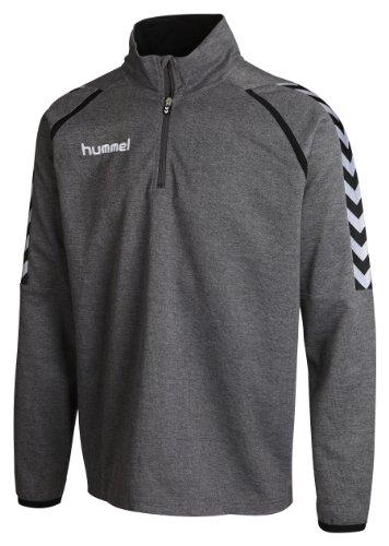 Hummel Unisex - Erwachsene Sweatshirt Stay Authentic Poly Dark Grey Melange