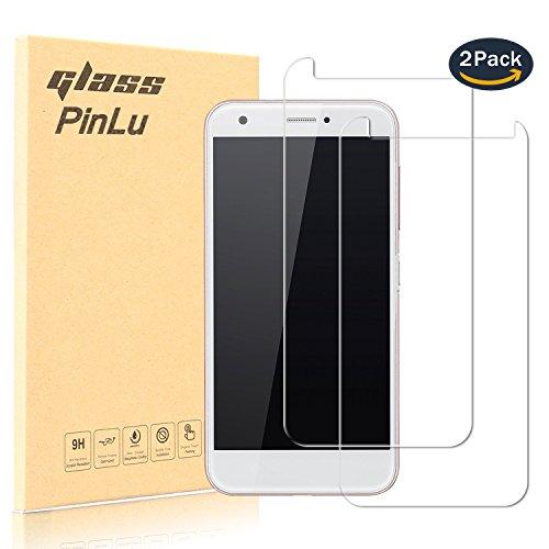 [2 Pack] pinlu® Panzerglas Bildschirmschutzfolie für ZTE Blade A512 Transparent Glasfolie Protector 9H Härtegrad Schutzglas,99prozent Transparenz,Einfaches Anbringen,3D Touch Kompatibel