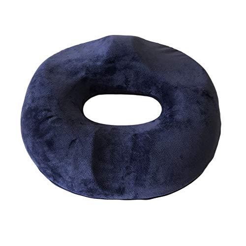 Crystal Velvet - Cojín de asiento de espuma con memoria de rebote lento para asientos inferiores de silla Azul oscuro
