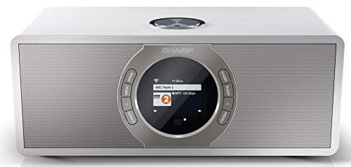 SHARP DR-I470 (WH) Stereo Internetradio/DAB, DAB+ Digitalradio,