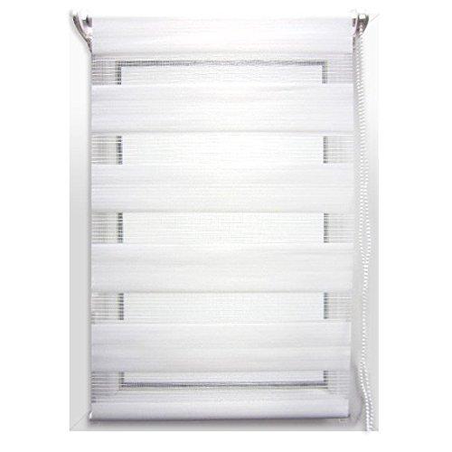 Store enrouleur jour/nuit (90 x H180 cm) Blanc