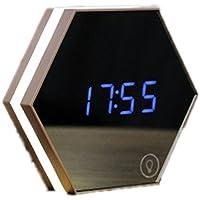 Frcolor Spiegel-Digital-Wecker-Thermometer mit Noten-LED-Nachtlicht (Weiß) preisvergleich bei billige-tabletten.eu