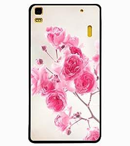 ColourCraft Beautiful Roses Design Back Case Cover for LENOVO A7000 PLUS
