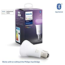 Philips Hue UAE White and Colour Ambiance LED Smart Bulb, Bluetooth & Zigbee compatible ( Hue Bridge Optional ), Works with Alexa & Google Assistant, Multi-Colour