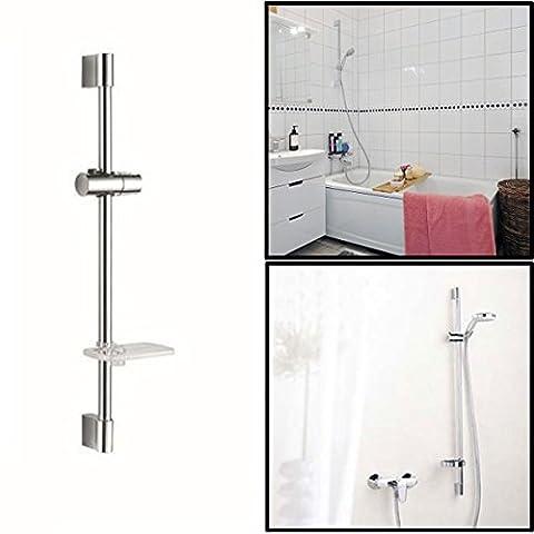 [Livraison Gratuite 7-12 jours] Salle de bains douche tige tête de levage réglée avec porte-savon et douche porte-tête