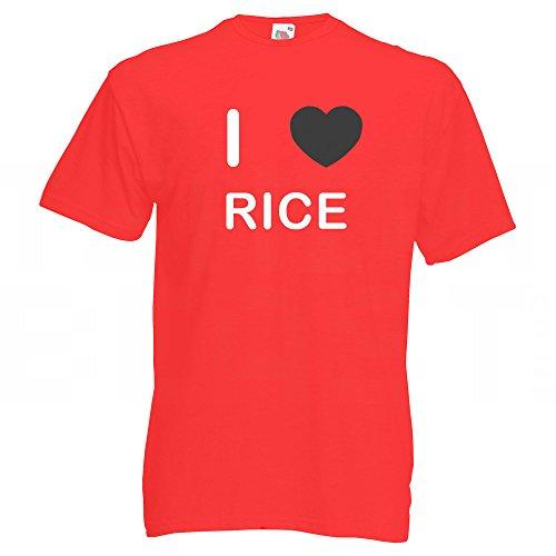 I Love Rice - T-Shirt Rot