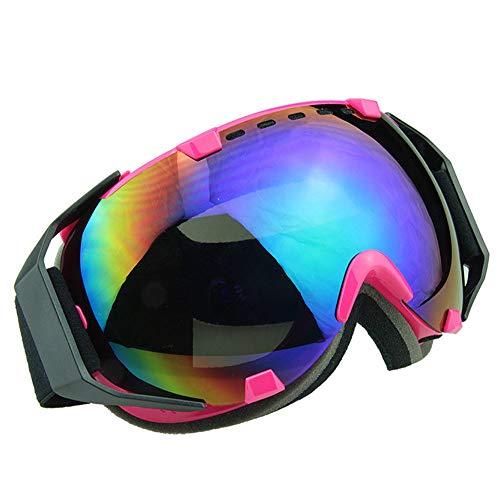 GAOWF Ski Goggles, Double-Layer-Anti-Fog-Snowboard-Schutzbrillen, Double Lens Rahmen Snow Goggles, UV-Schutz-Wide Sphärische Skate-Sonnenbrille Für Motorrad Fahrrad Snowmobile,A