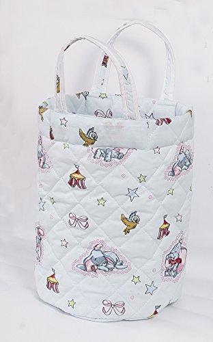 Love2Sleep–pequeños juguetes de guardería para pañales bolsa de almacenamiento ronda cesta–elefantes