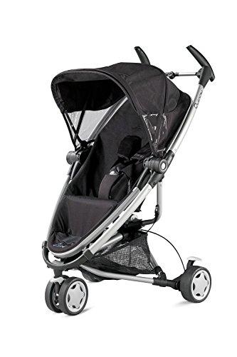Quinny Zapp Xtra Buggy (superleicht, mit komfortabler Ruheposition, inklusive Einkaufskorb, Sonnen- und Regenverdeck, Sonnenschirmclip, Adapter für die Babyschale) schwarz