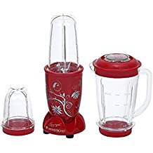 Wonderchef Nutri-Blend Juicer Mixer Grinder with Big Jar Set (Red)