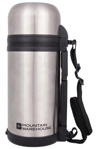 Mountain Warehouse Lebensmittelflasche mit Griff - 1,2 Liter - Doppelwandige Thermosflasche für Essen, kleine Schüssel - Idealer Proviantbehälter für Arbeit und Reisen Silber (Schüssel Nachfüllen)