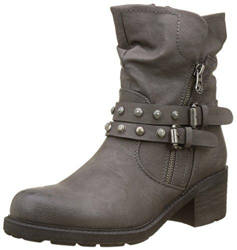 TOM TAILOR Damen 3795004 Biker Boots, Gris (Gris Coal), 39 EU (Talon Boot)