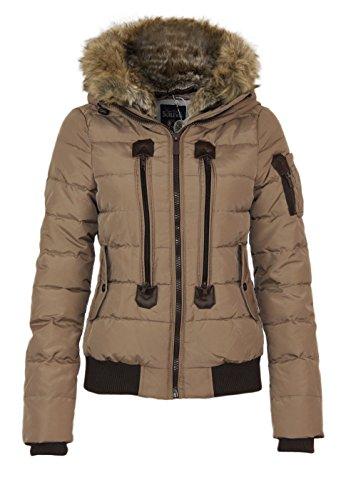 Sublevel Stepp veste d´hiver avec capuche Dark Beige