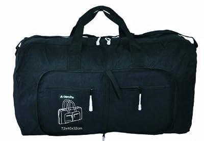 Aerolite Lightweight Extra Large Black Fold Away Holdall / Cabin Approved Flight Bag Backpack Bag
