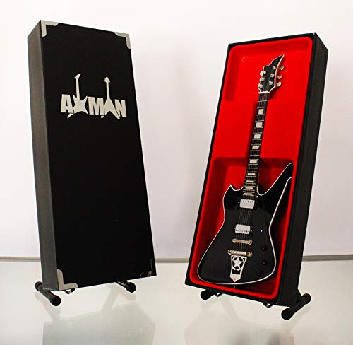 Miniatur Gitarre Replica: Paul Stanley Motorsäge Washburn PS-Modell Mini Rock Kuriositäten Nachbildung Holz Miniatur-Gitarre & Display Gratis Ständer (UK Verkäufer) - Paul Les E-gitarre