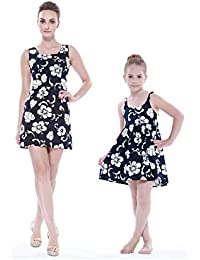 216330c7a Matching Madre Hija Hawaiano Luau Equipo Dama Tanque y Vestir Vestido de niña  PW Hibisco de