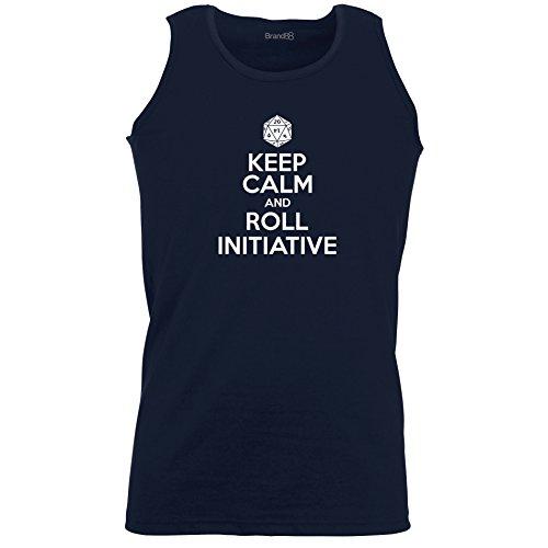 Brand88 - Keep Calm And Roll Initiative, Unisex Athletic Weste Dunkel Blau