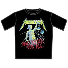 METALLICA AND JUSTICE FOR ALL MEN T-SHIRT SIZE L