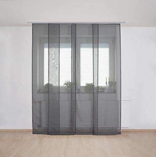 deko home24 panneau coulissant transparent avec accessoires panneau japonais rideau noren. Black Bedroom Furniture Sets. Home Design Ideas