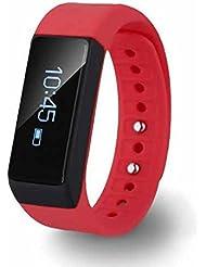 Moniteur de sommeil Smartwatch,Calculatrice,Connecté Bluetooth NFC Sports Montre Podomètre,Appareil photo à distance,Affichage LCD,Ecran LCD compatible Smartphone/Iphone/Android
