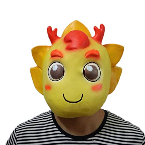 GXDHOME Halloween Funny Scary Horror Gruselige Drachen Latex Gesichtsmaske, Dämon Erwachsene Und Kinder Maske Kostüm Maskerade Party Cosplay