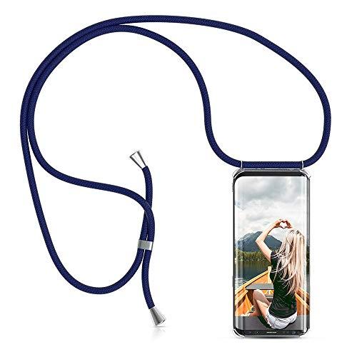 ZHXMALL Unisex Crossbody Handykette für Samsung Galaxy Note 9, Pouch Bag Mode-Accessoire Handytasche mit 1.5m Verstellbarer Schultergurt für Junge Männer und Frauen Clear Minimalistischer TPU Hülle