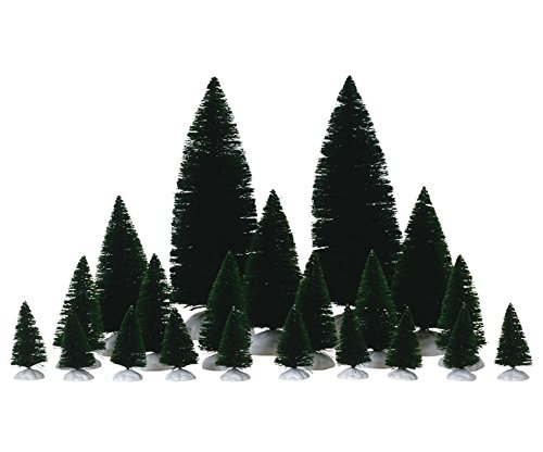 Lemax Christmas - 21 Pc Assorted Fir Trees (74691) by - Set Nativity Tree Christmas