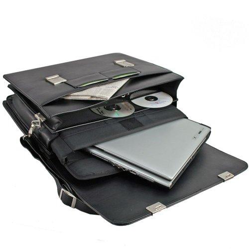 d & n Basic Aktentasche 41 cm Laptopfach Schwarz