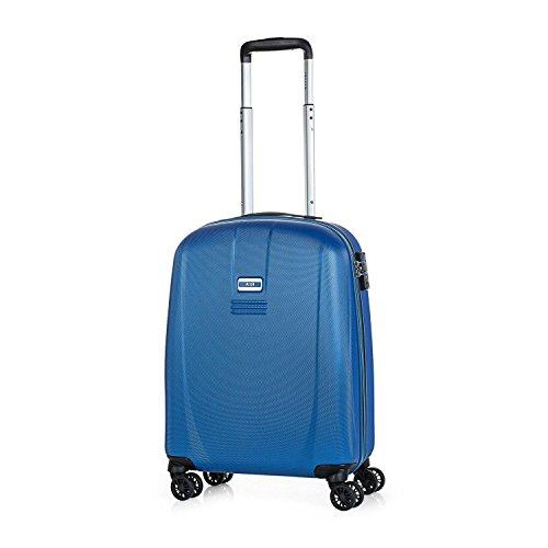 JASLEN - 56550 Maleta Trolley Cabina 50 cm ABS. Equipaje de Mano. Rígida, Resistente y Ligera. Mango telescópico, 4 Ruedas Dobles. Candado Integrado TSA. Vuelos Low Cost Ryanair, Color Azul